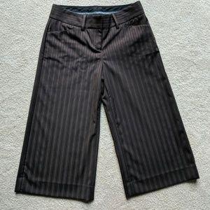 Express Brown Capri Dress Pants